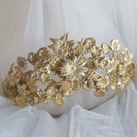 TIARA ALEMANIA gold brass