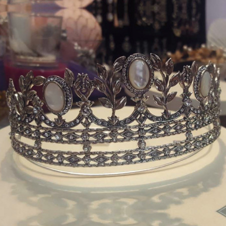 Tiara Rusia Especial - Sterling Silver & swarovski