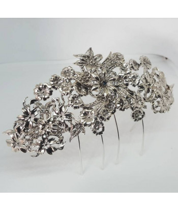 Peineta Alemania plata & Swarovski