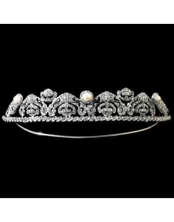 Tiara Azteca, Silver & Swarovski