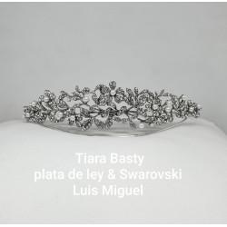 Tiara Basty, plata & swarovski