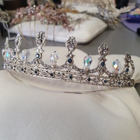Tiara Rusia Cristal - Plata & Swarovski